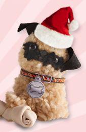 Christmas Pom-Pom pug.  http://www.klutz.com/crafts/Pom-Pom-Puppies