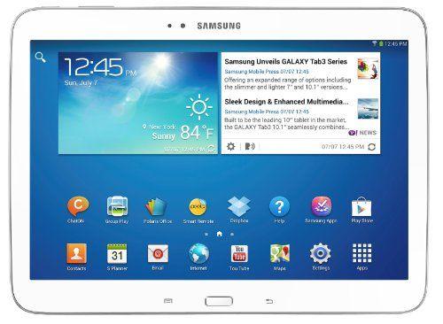 "Samsung Galaxy Tab 3 Tablette tactile 10.1"" Processeur Intel Atom dual-core 1,6 GHz 16 Go Android Jelly Bean 4.2.1 Bluetooth WiFi Blanc Samsung,http://www.amazon.fr/dp/B00DB1NNXG/ref=cm_sw_r_pi_dp_7RsCtb04EE6205XJ"