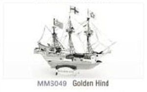 Golden Hind Ship Metal Works 3 D Puzzle Kit by Metal Marvels. $10.60. This Silver Edition Metal Works model is twice as detailed as a normal edition Metal Works.. Authentic Museum Quality Laser Cut Replica. Ages 14+ (It's tough!). Metal Works Golden Hind Ship Laser Cut Model. Includes instruction sheet. This cool model kit from MetalWorks allows you to construct a small model of the Golden Hind Ship- the most popular airplane ever manufactured. This intricately designe...