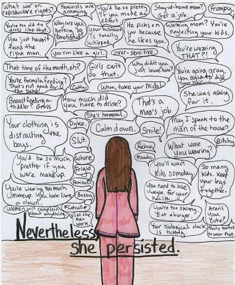 Nevertheless, she persisted (a friend posted this on facebook. thankful to her. had to look it up and pin. best thing ever.)