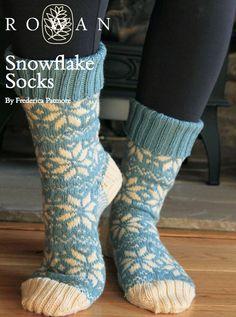FREE Rowan Pattern: Snowflake Socks by Frederica Patmore in Rowan Pure Wool 4-Ply