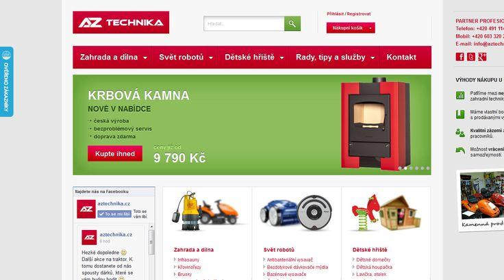 Děláme výkonnostní marketing pro eshop se zahradní technikou www.aztechnika.cz. Správa PPC kampaní AdWords a Sklik (vyhledávání, remarketing, retargeting) a optimalizace nalezitelnosti ve vyhledávačích zboží (Zbozi.cz, Heureka.cz).