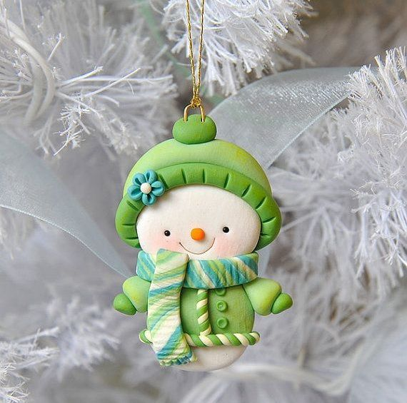 Snowman Ornament by MY JOYFUL MOMENTS | Polymer Clay Planet