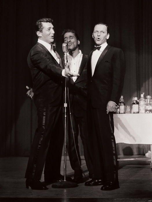C4867 Rat Pack group Frank Sinatra Dean Martin Sammy Davis Wall Print POSTER UK