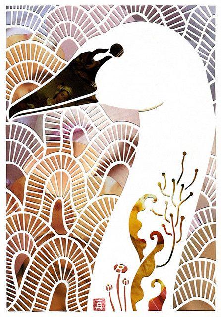 Large Two Dimensional Work Mayuko Fujino Paper Cutout Art Wall Art
