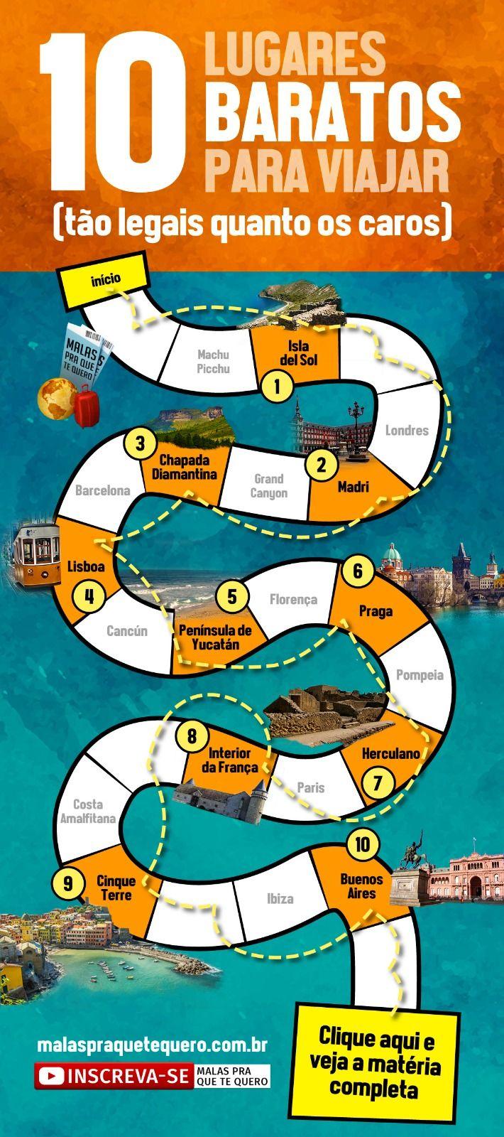 Quer descobrir lugares baratos para viajar sem perder qualidade? Reunimos 10 lugares perfeitos para suas férias, com custo bem pequenininho. (feat. @eusouatoa) #dicas #dicasdeviagem #viajarbarato