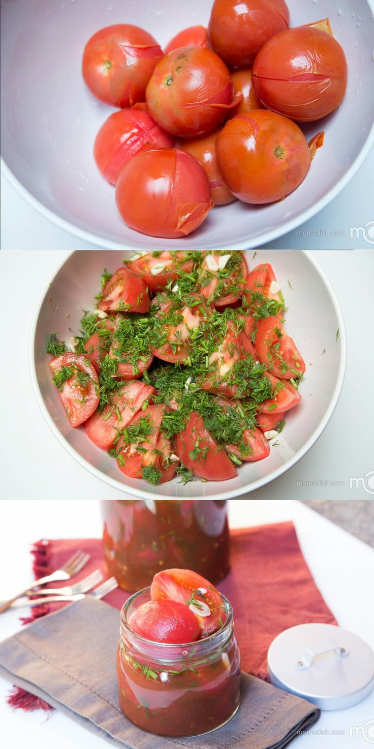 Quick and easy to prepare the most delicious marinated tomatoes