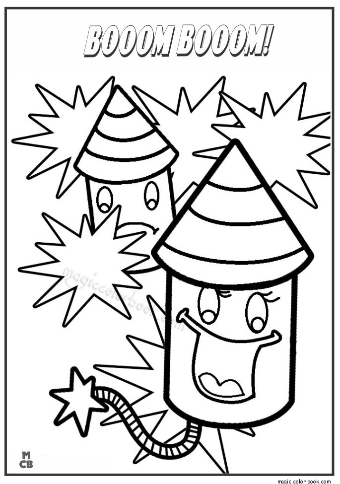 printable fireworks coloring pages for kids - Firework Coloring Pages Printable