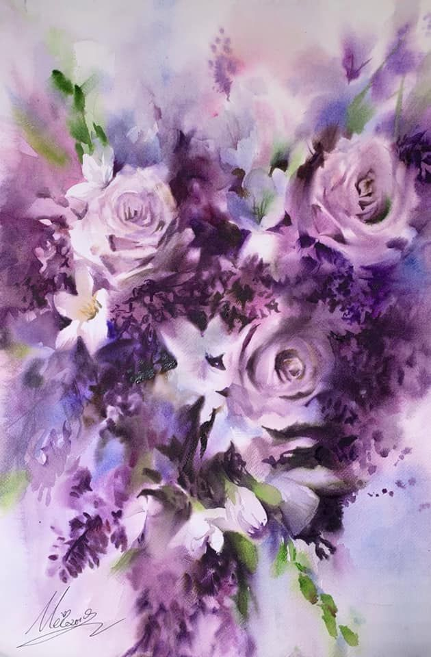 By Michelle Lin Of World Watercolor Group Floral Watercolor