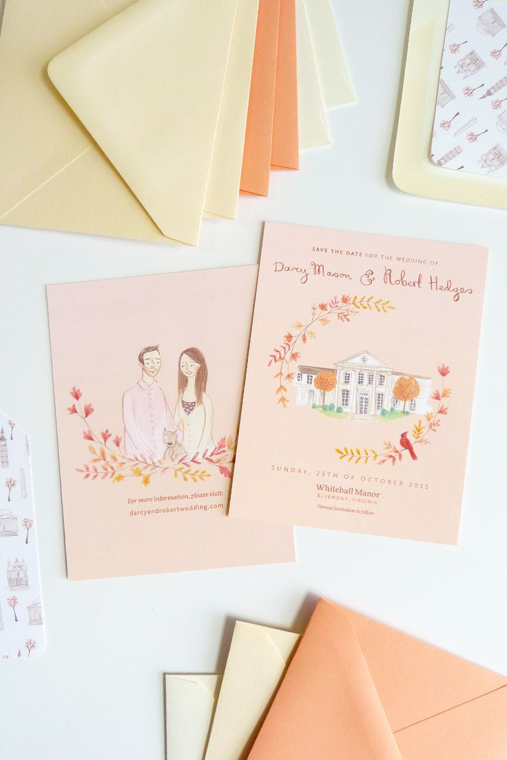 emma block's custom wedding stationery for darcy and rob by @jollyedition
