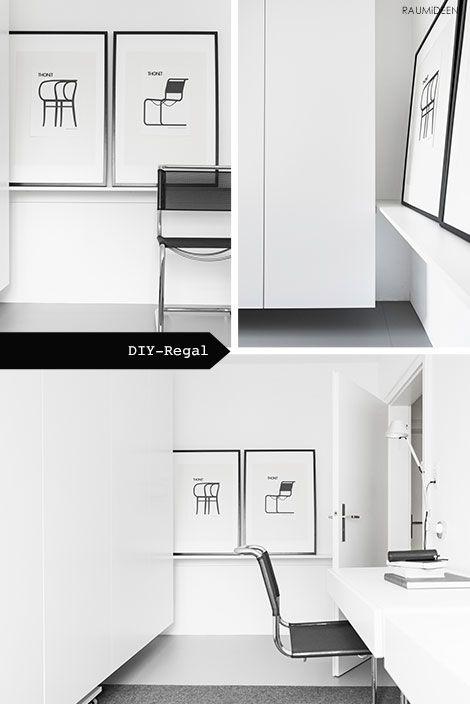 RAUMIDEEN - Ein Regal für mein Büro selbstgemacht DIY-IDEEN - dekorative regale inneneinrichtung