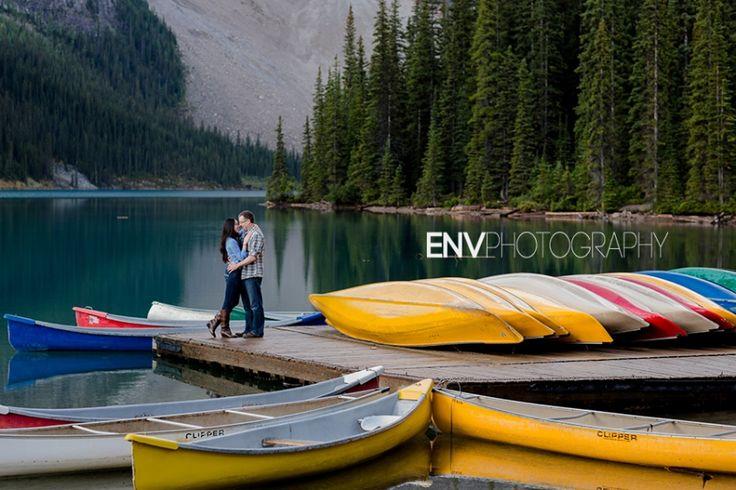 Moraine Lake Couples Portrait Photography Lake Louise Rocky Mountains