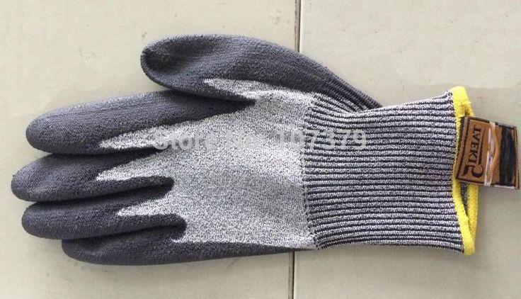 Aramid Fiber Cut Resistant Safety Glove PU ESD Working Glove HPPE Anti Cut Work Glove #Affiliate