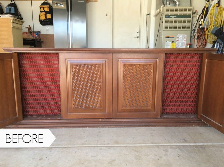 We Turned This Vintage Radio Cabinet Into A Rustic Media Cabinet Using Country Chic Paint and Metallic Cream. You'll Be Amazed At The After! The McCartney Media Console Makeover by Thirty Eighth Street.