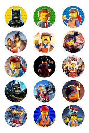 The Lego Movie 30 1 Bottle Cap Images by DiscountPrintables