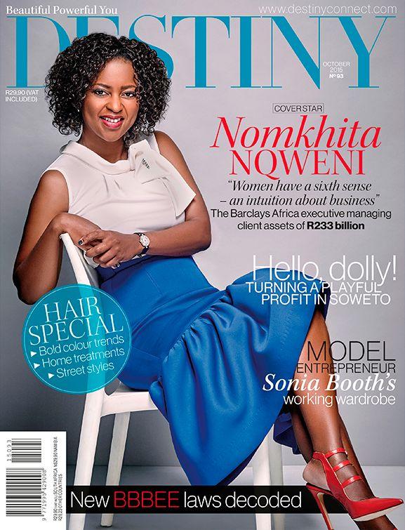 Nomkhita Nqweni, Destiny October 2015 Cover