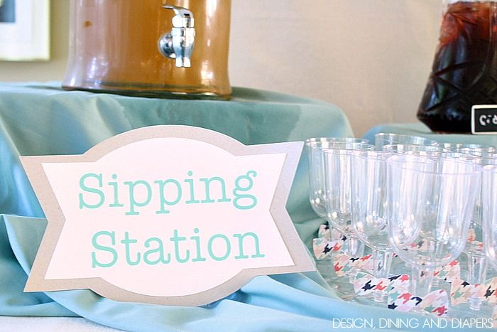 sip and see party ideas   Since it was a 'Sip and See' party, I put together a sipping ...