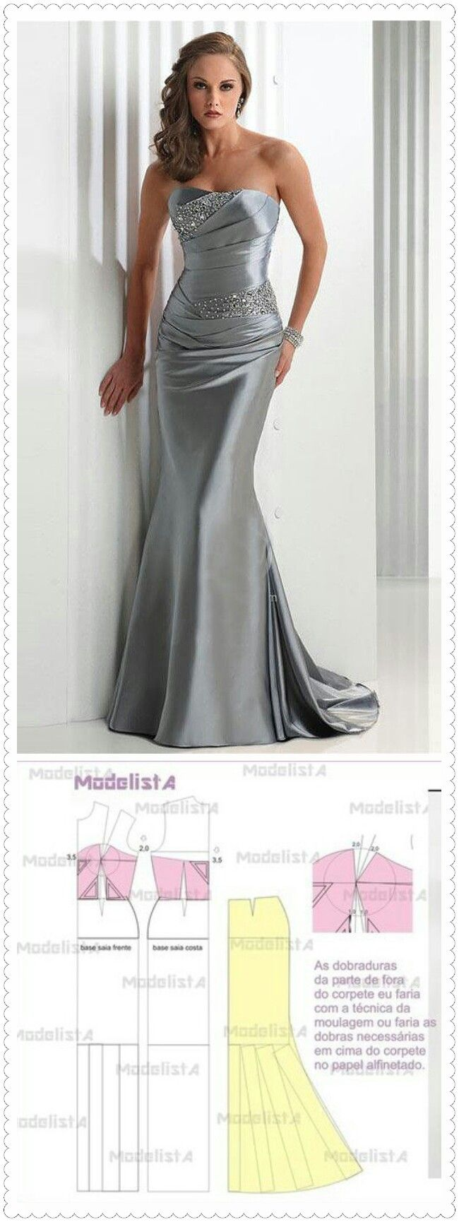 Mermaid Wedding Dress Patterns DIY