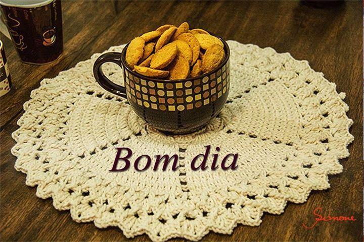 Bom dia Crocheteiros e Crocheteiras <3 #crochet #ProfessoraSimone #semprecirculo #bomdia