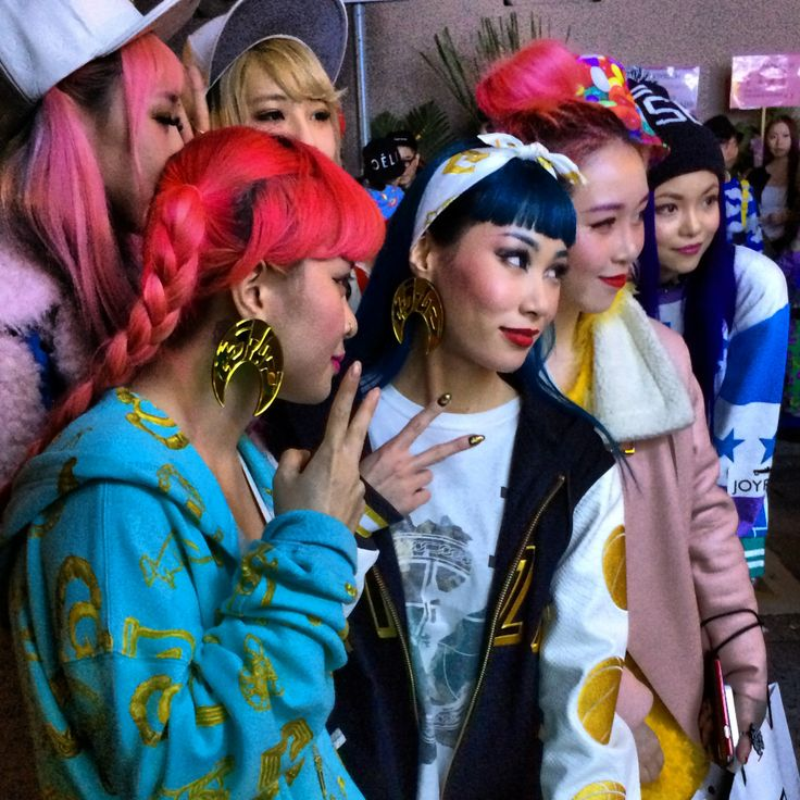 Funky fashion crowd at Joyrich Hong Kong store opening including DJ Mademoiselle Yulia ...