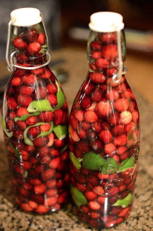 Cranberry Lime Vodka - Click HERE for the steps -