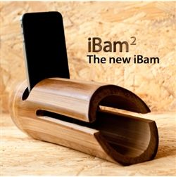 iBam.. bamboo speaker. It would work even with the new iPhone 5 and its changed dock connector ;)