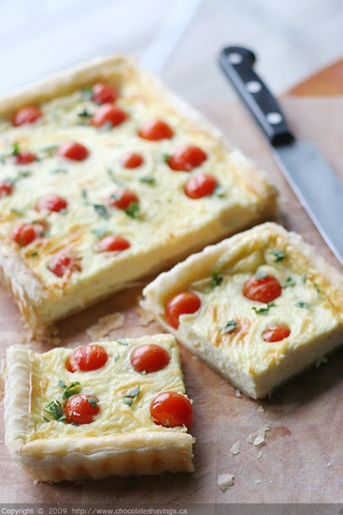 Goat cheese and tomato tart - how good does THIS look?  (Good!!!) @chocshavings