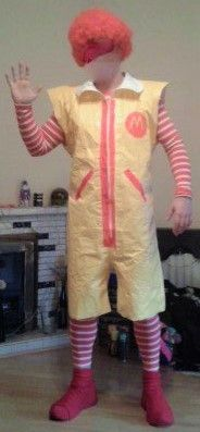 Halloween 2015 Ronald McDonald Costume Tutorial from Irish Blog