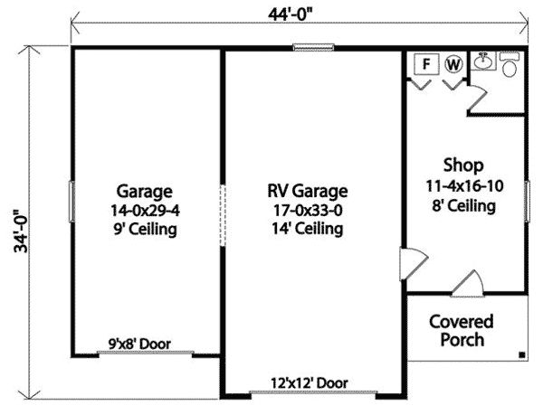 54 best images about rv garage plans on pinterest house for 32x40 garage plans