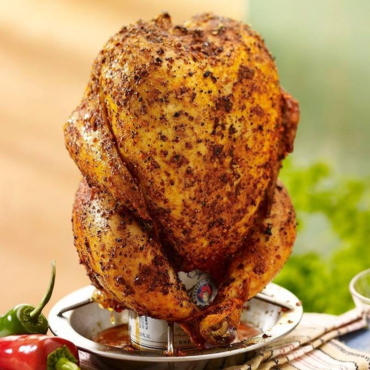 Add a Mexican twist to beer can chicken by seasoning with a spicy chipotle and ground red pepper rub, then grill over a can of authentic Mexican beer.