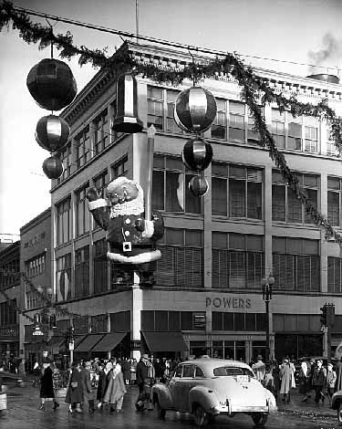 Christmas decorations, Powers Department Store, Minneapolis, 1949. Photo by Norton & Peel. © Minnesota Historical Society. All rights reserved.