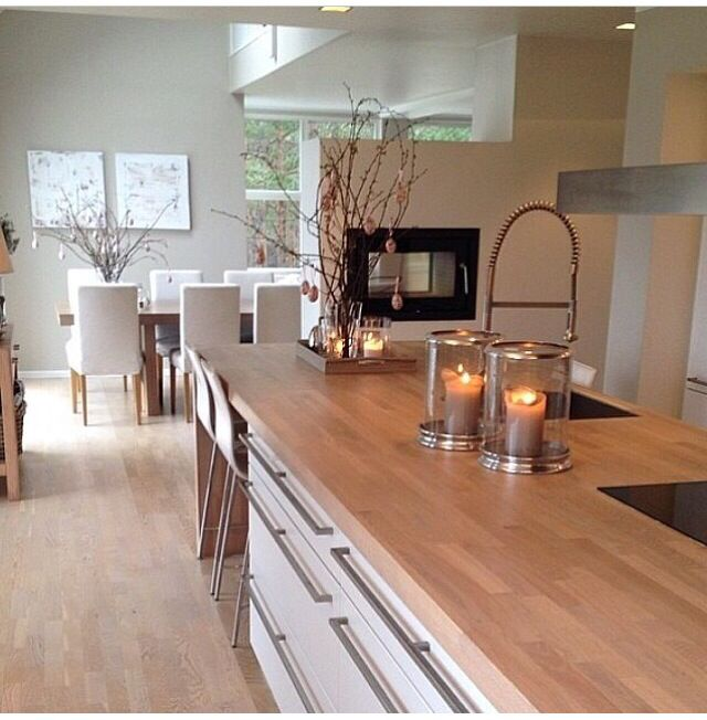 Contemporary Kitchen Softened By The Light Coloured Timber