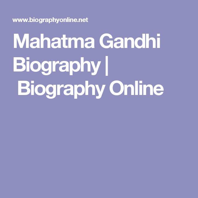 Mahatma Gandhi Biography | Biography Online