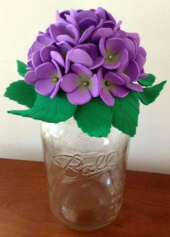 mason jar foam flowers decorative tops, crafts, mason jars, repurposing upcycling