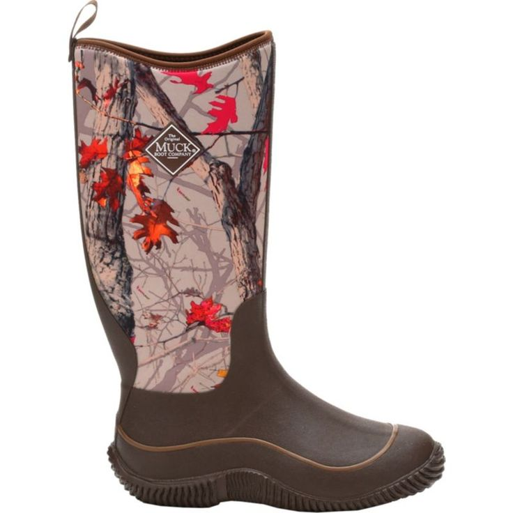 Muck Boots Women's Hale Rubber Hunting Boots, Brown/Hot Leaf Camo