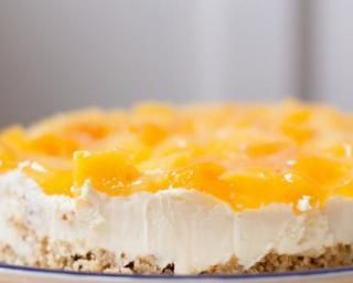 Cheesecake minceur aux pêches :