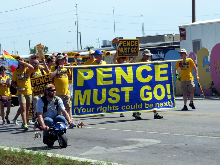 https://flic.kr/p/H8tENw   PENCE MUST GO! (Your rights could be next)   I think Governor Mike Pence is the most unpopular politician in Indiana at the moment. I saw a sign like this near the Governor's Mansion recently.