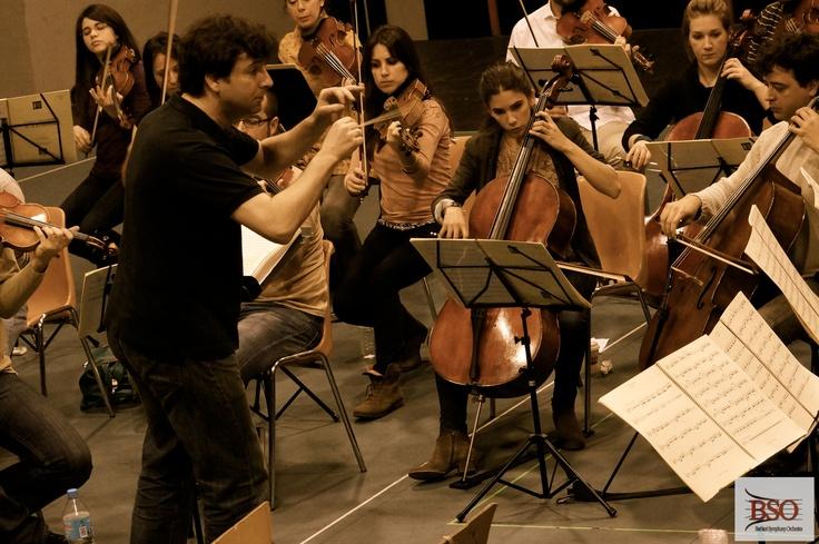 """Ensayo """"El Juramento"""" de Gaztambide, que nuestra orquesta toca el 10 de mayo en Baluarte, Pamplona"""