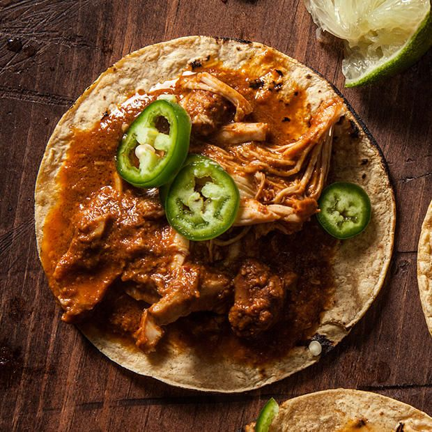 An effortless recipe for chicken mole, made in a slow cooker. -- makes enough to freeze half!