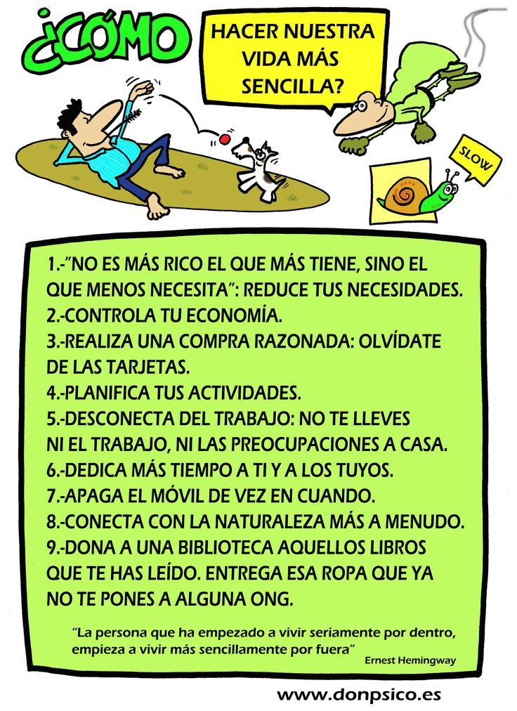 ¿Cómo vivir de manera más sencilla? www.donpsico.es