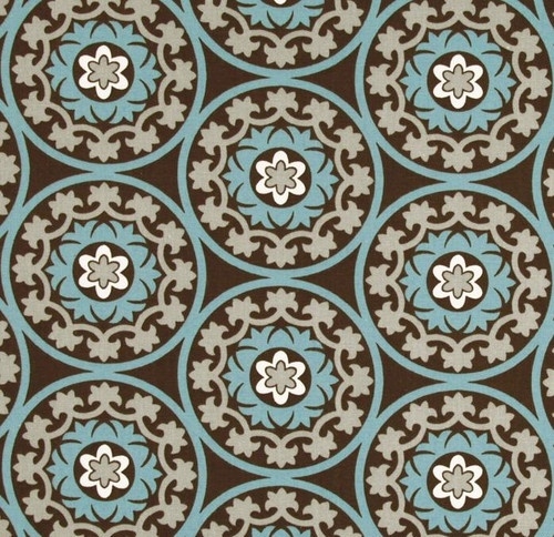 Robert Allen Suzani Azure Fabric - eclectic - upholstery fabric - - by Stephanie Sabbe