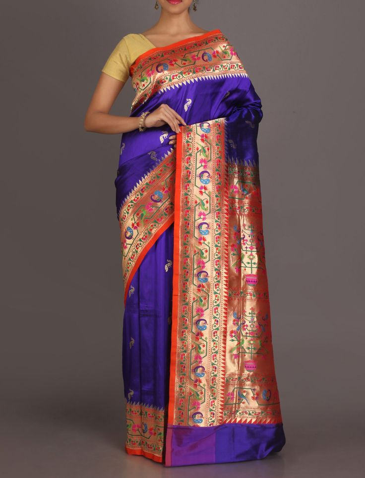 Meghana Kalash Of Prosperity Bountiful Real Zari Paithani Silk Saree