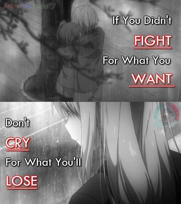 Be responsible on your own decisions Anime: Sakurasou no Pet na Kanojo