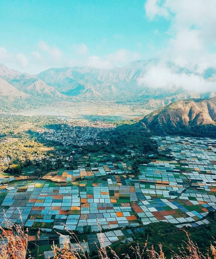 The view of #Sembalun Village from #Pergasingan Hill, #Lombok, #Indonesia  Photo by: IG @putri_yustika