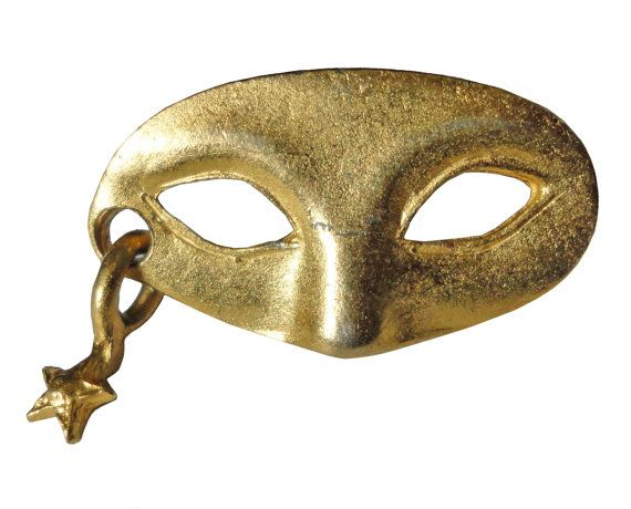 """MASQUERADE MASK StAR lapel vintage pin brooch by VintageTrafficUSA  18.00 USD  A vintage mask pin! Excellent condition. Measures: approx .1"""" Add inspiration to your handbag tie jacket backpack hat or wall. Have some individuality = some flair! -------------------------------------------- SECOND ITEM SHIPS FREE IN USA!!! LOW SHIPPING OUTSIDE USA!! VISIT MY STORE FOR MORE ITEMS!!! http://ift.tt/1PTGYrG FOLLOW ME ON FACEBOOK FOR SALE CODES AND UPDATES! http://ift.tt/1P57awb OR FOLLOW ME ON…"""