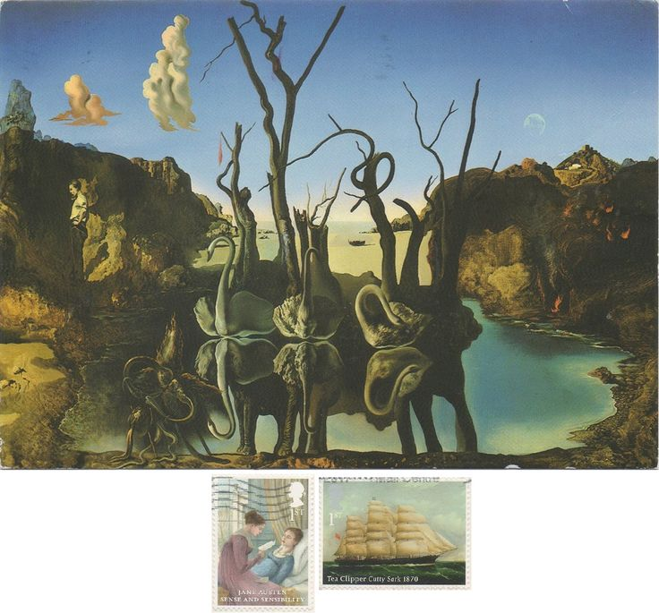 GB-933788 - Arrived: 2017.09.28   ---   Salvador Dalí - Swans Reflecting Elephants (1904)
