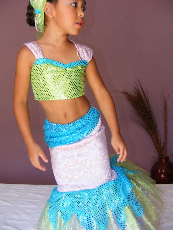 Little Mermaid Costume for Girl Sizes 2t5 by DIPdesigns on Etsy, $76.00