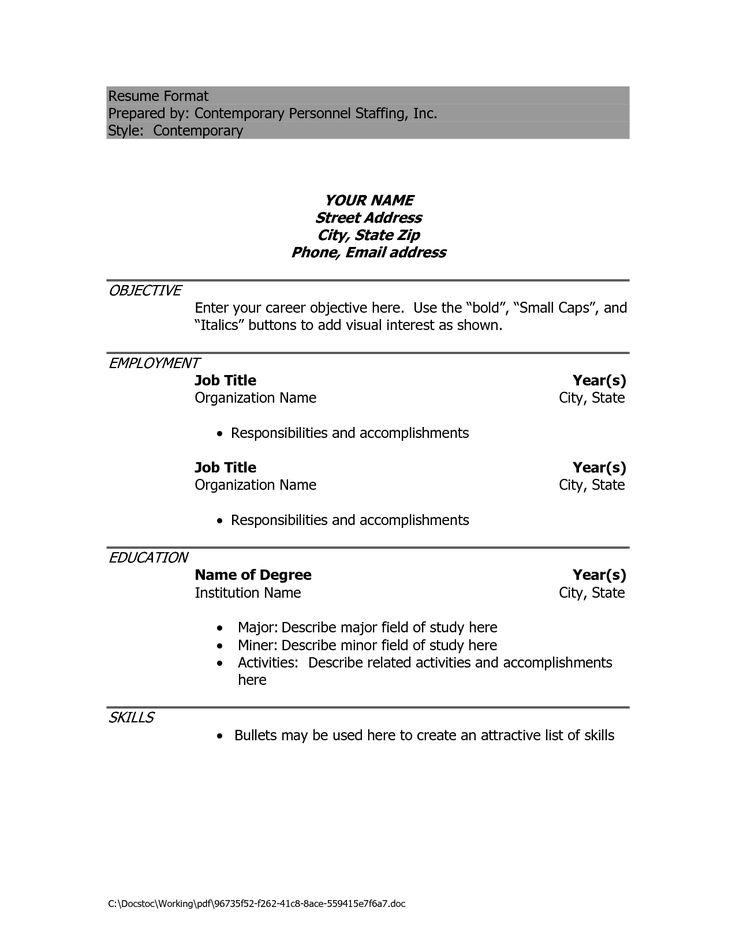 Resume Format For Teachers Doc File Resume Format For Teachers Doc - resume format doc