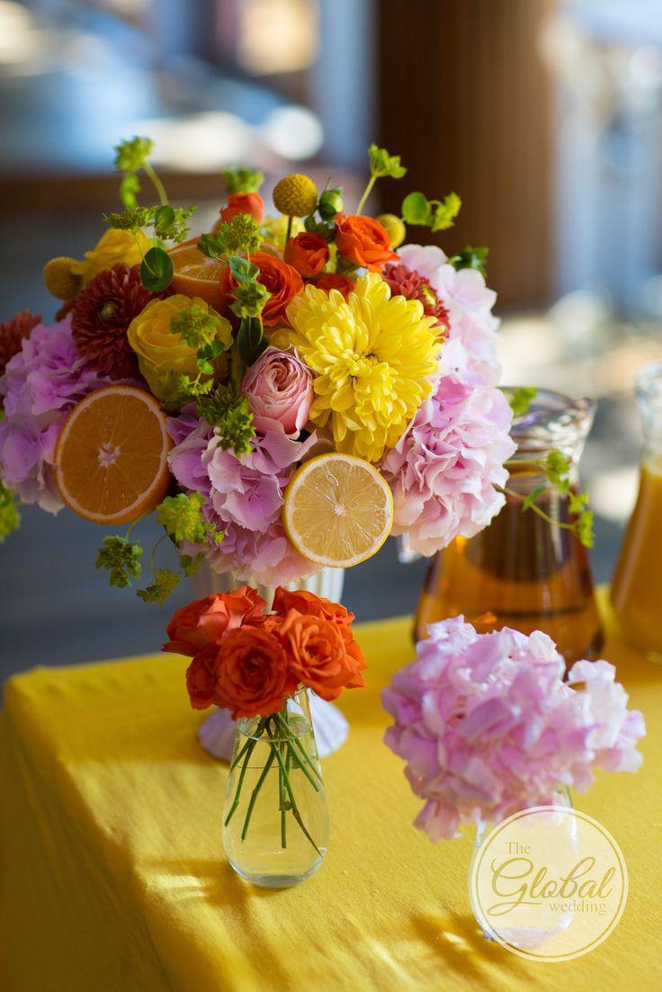 Citrus wedding Wedding decor and floristic Цитрусовая свадьба Декор и флористика