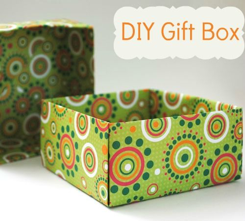 Home made gift boxes - origami instructions to fold a box, but use 12 x 12…